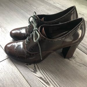 Womens Alfani Ricky Lace Up Heels, Size 8.5, brown